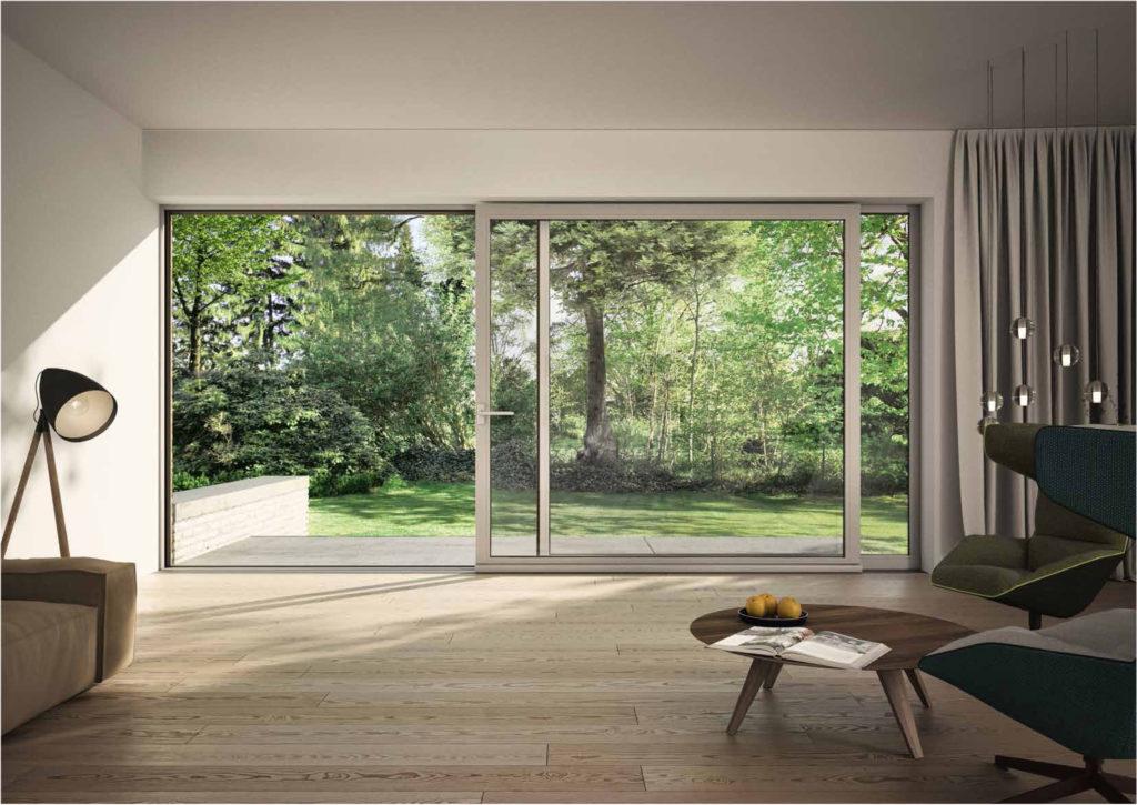 finestra SCHÜCO in alluminio